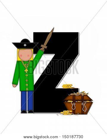 Alphabet Children Pirates Z
