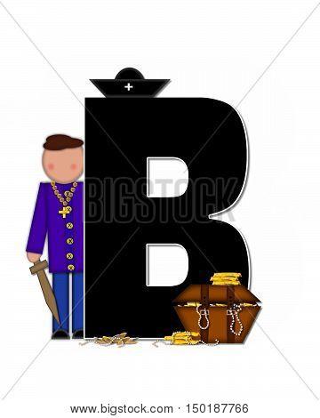 Alphabet Children Pirates B