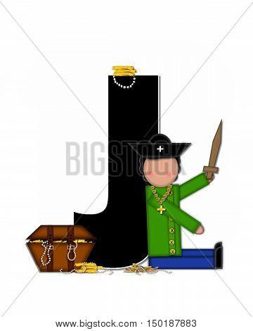 Alphabet Children Pirates J