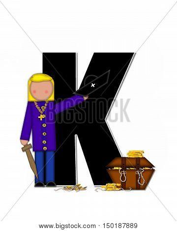 Alphabet Children Pirates K