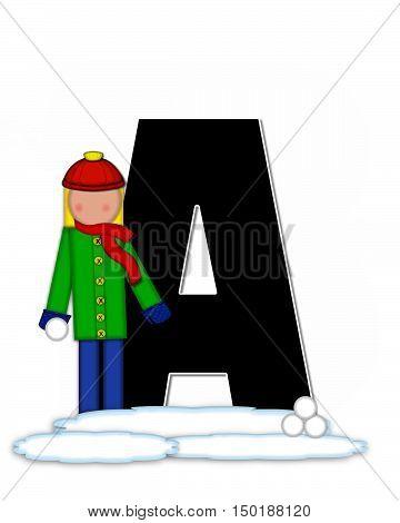 Alphabet Children Snow Fight A