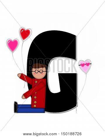 Alphabet Children Valentines G