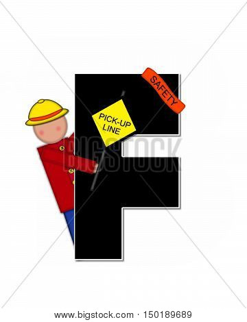 Alphabet Children School Patrol F