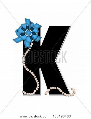 Alphabet Ribbon Trimmed K