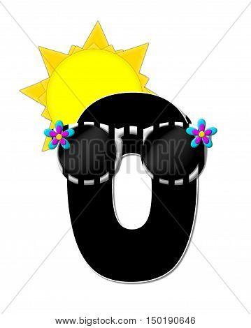 Alphabet Sun Shades O