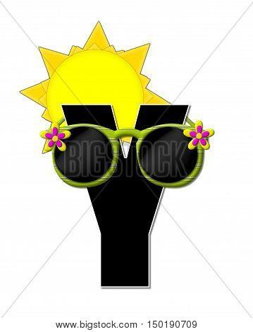 Alphabet Sun Shades Y