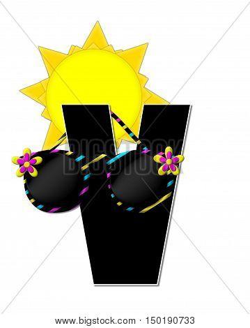 Alphabet Sun Shades V