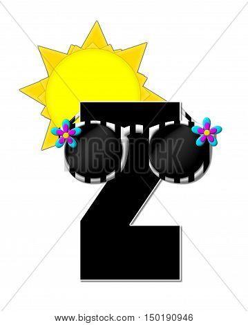 Alphabet Sun Shades Z