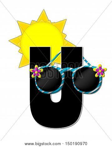 Alphabet Sun Shades U