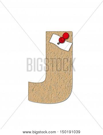 Alphabet Cork Board J