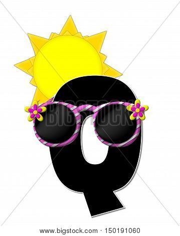 Alphabet Sun Shades Q