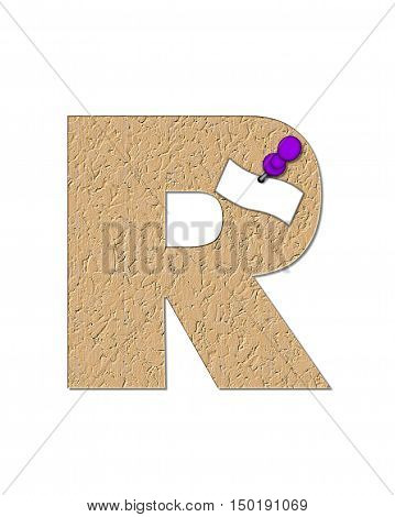 Alphabet Cork Board R