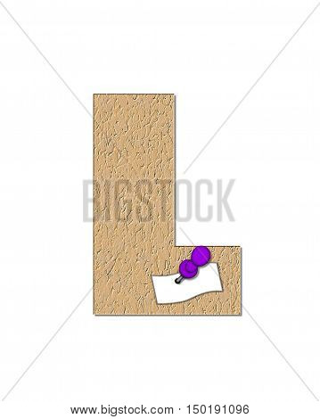 Alphabet Cork Board L