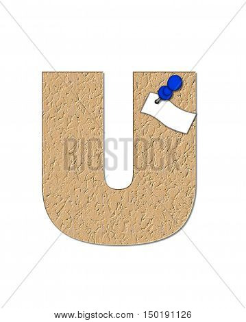 Alphabet Cork Board U