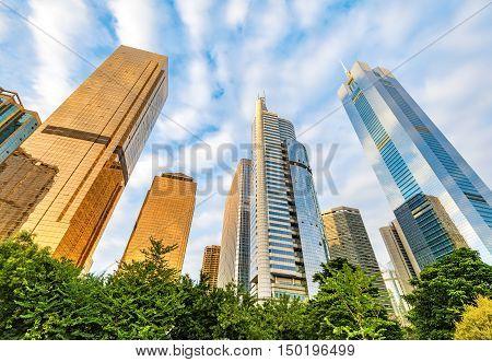 Guangzhou, China, the modern building, skyscrapers buildings