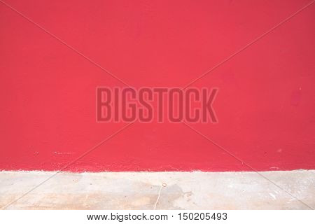 paint cement wall pink or red cement wall