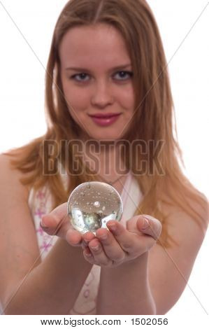 Girl With Crystal Ball
