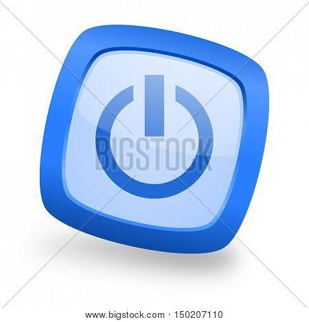 power blue glossy web design icon