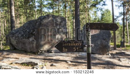 TORSAKER, SWEDEN ON JULY 10. Memorial, landmark of a witch trials, which took place in 1675. July 10, 2016 in Torsaker, Sweden. 71 people, 65 women and 6 men were beheaded and then burned. Editorial use.