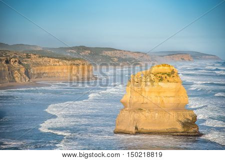 The Twelve Apostles near Great Ocean Road natural landmark and tourist attraction of Victoria Australia