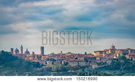 View Of Bergamo Alta