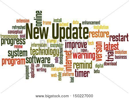 New Update, Word Cloud Concept 4