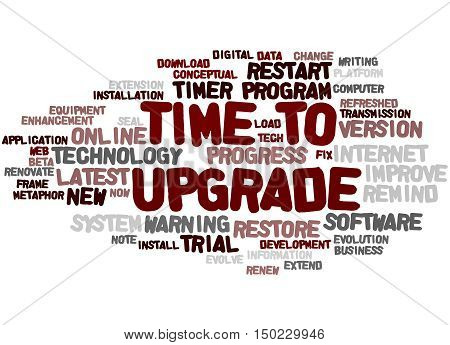 Time To Upgrade, Word Cloud Concept 5
