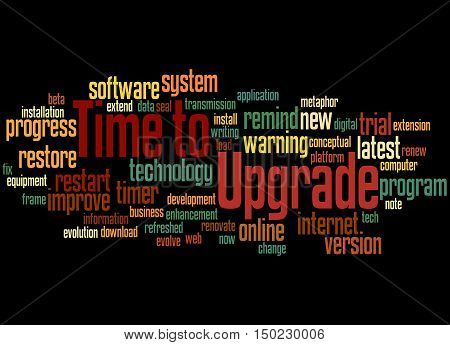 Time To Upgrade, Word Cloud Concept 8