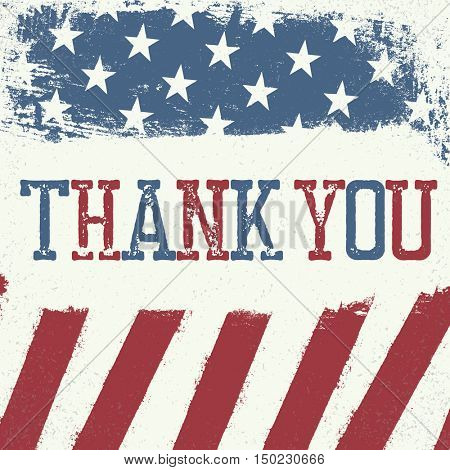 Veterans day greeting card design. Patriotic poster design template.