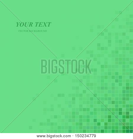 Green abstract pixel square pattern background design