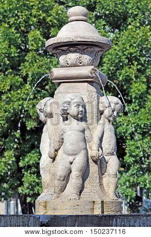 Fountain Putti. German sculptor Stanislaus Kauer 1908. Kaliningrad formerly Kenigsberg Russia