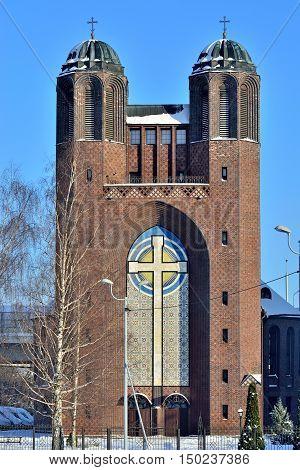 Kreuzkirche - Orthodox Church in Kaliningrad before 1946 Koenigsberg Russia
