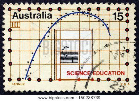 AUSTRALIA - CIRCA 1974: a stamp printed in Australia dedicated to Science Education circa 1974