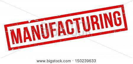 Manufacturing rubber stamp on white. Print impress overprint.