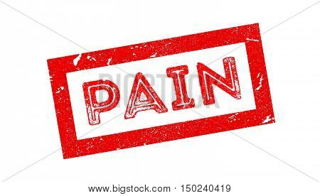 Pain Rubber Stamp