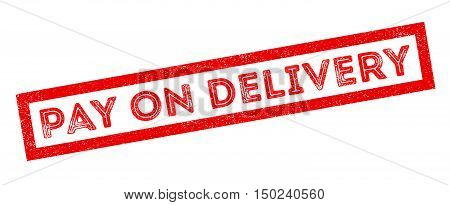 Pay On Delivery Rubber Stamp