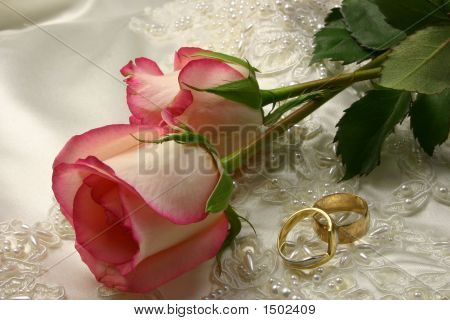 Rings Satin And A Rose