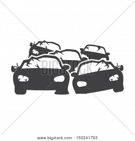 dump car black simple icon on white background for web design