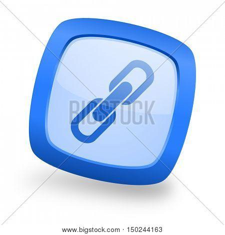link blue glossy web design icon