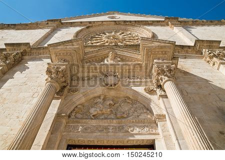 Cathedral of Acquaviva delle fonti. Puglia. Italy.