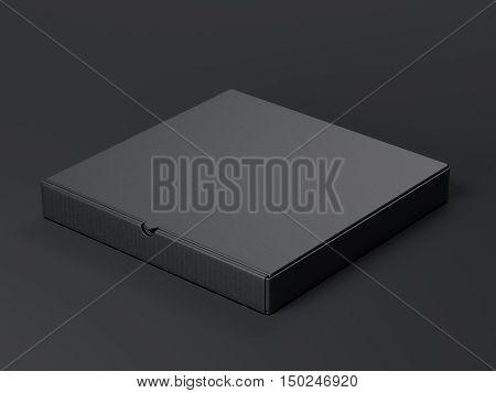 Black Package. 3D Rendering