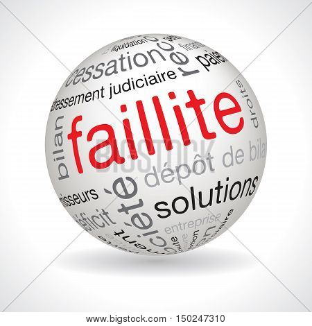 French Bankruptcy Theme Sphere