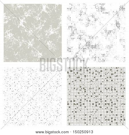 Set Of Vector Seamless Textures