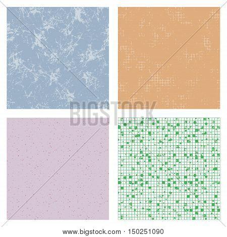 Set Of Vector Seamless Textures