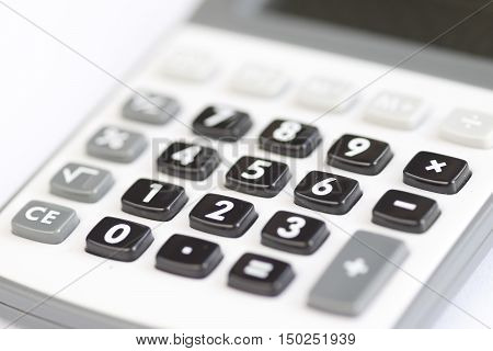 Calculator - counting of the financial position - charges and revenue - receipts and expenditure - poor prospects