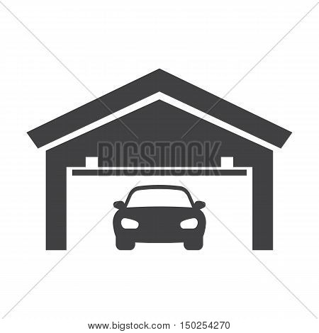 garage black simple icons set for web design