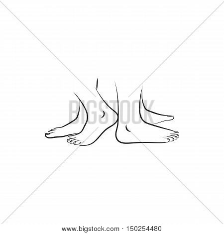 legs standing back to back Icon Created For Mobile Web And Applications. Simple black icon isolated on white background. Vector illustration.