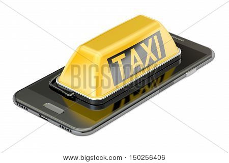taxi service concept 3D rendering isolated on white background