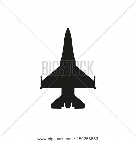 simple black fighter icon isolated on white background. Elements for company print products page and web decor. Vector illustration.