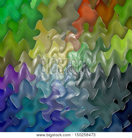 Abstract coloring background of the pastels gradient with visual lighting, wave,mosaic and plastic wrap effects.Good for your project design